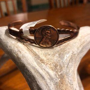 1976 Copper Penny Bracelet